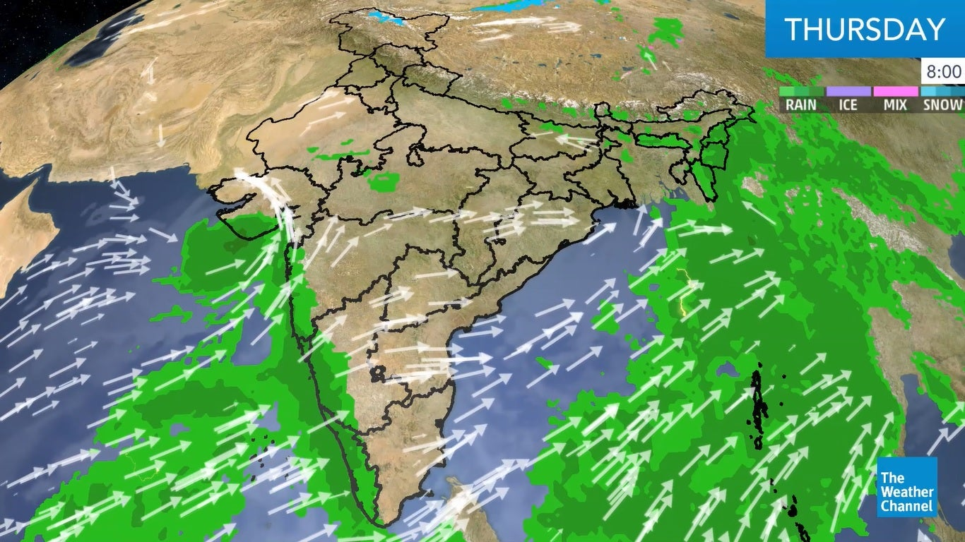 'Vayu' Likely to Travel Northwest and Change Course to West Around Thursday Noon