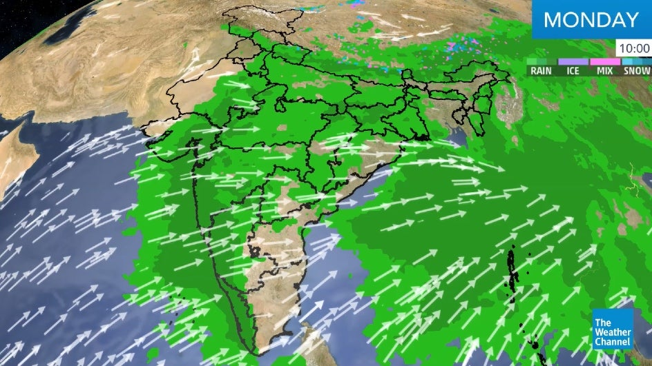 Moist Winds from Bay of Bengal to Bring Moderate to Heavy Rain in Northeast India