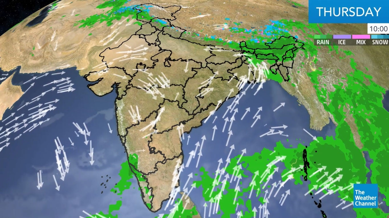 Heavy rain and thunderstorms are also likely over Andaman and Nicobar Islands on Thursday.