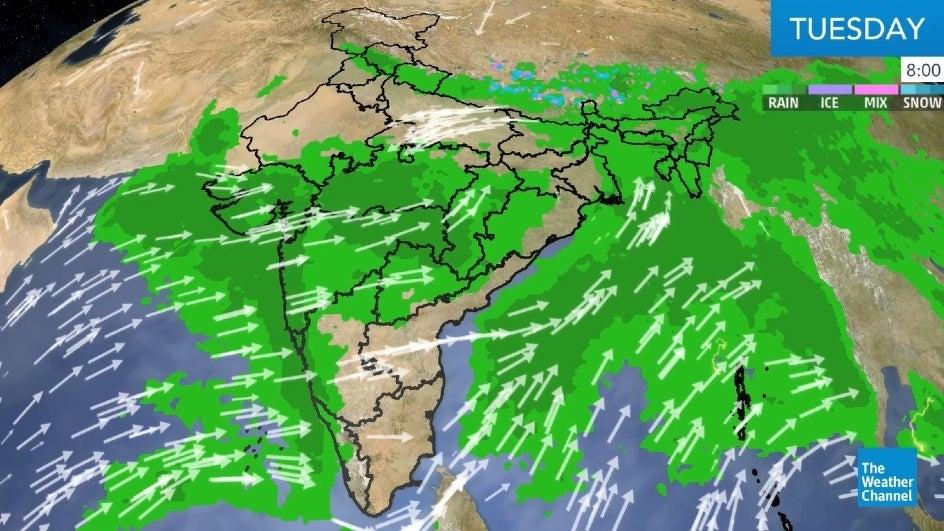 Heavy Rains Forecast over Sub-Himalayan West Bengal, Bihar and East Uttar Pradesh