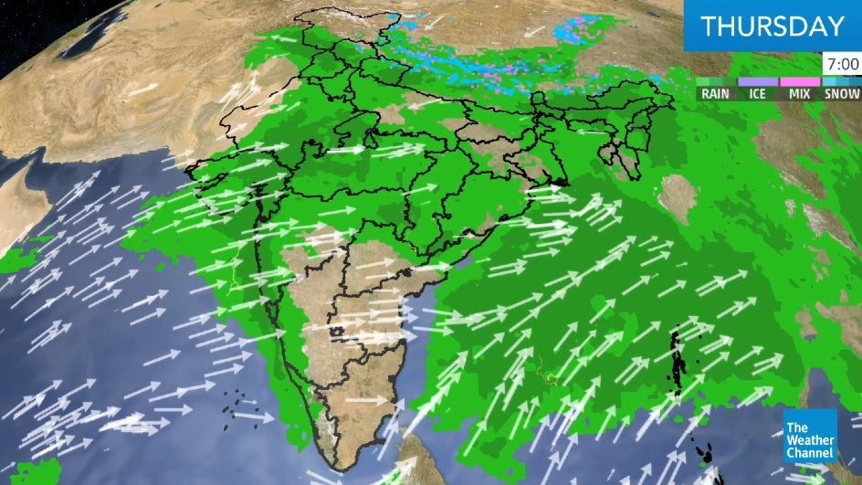 Torrential Rain Expected over Madhya Pradesh until Friday Evening
