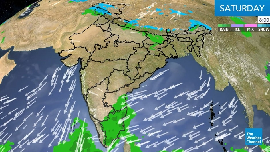 Weekend Showers Likely over Interior Maharashtra, Andhra Pradesh