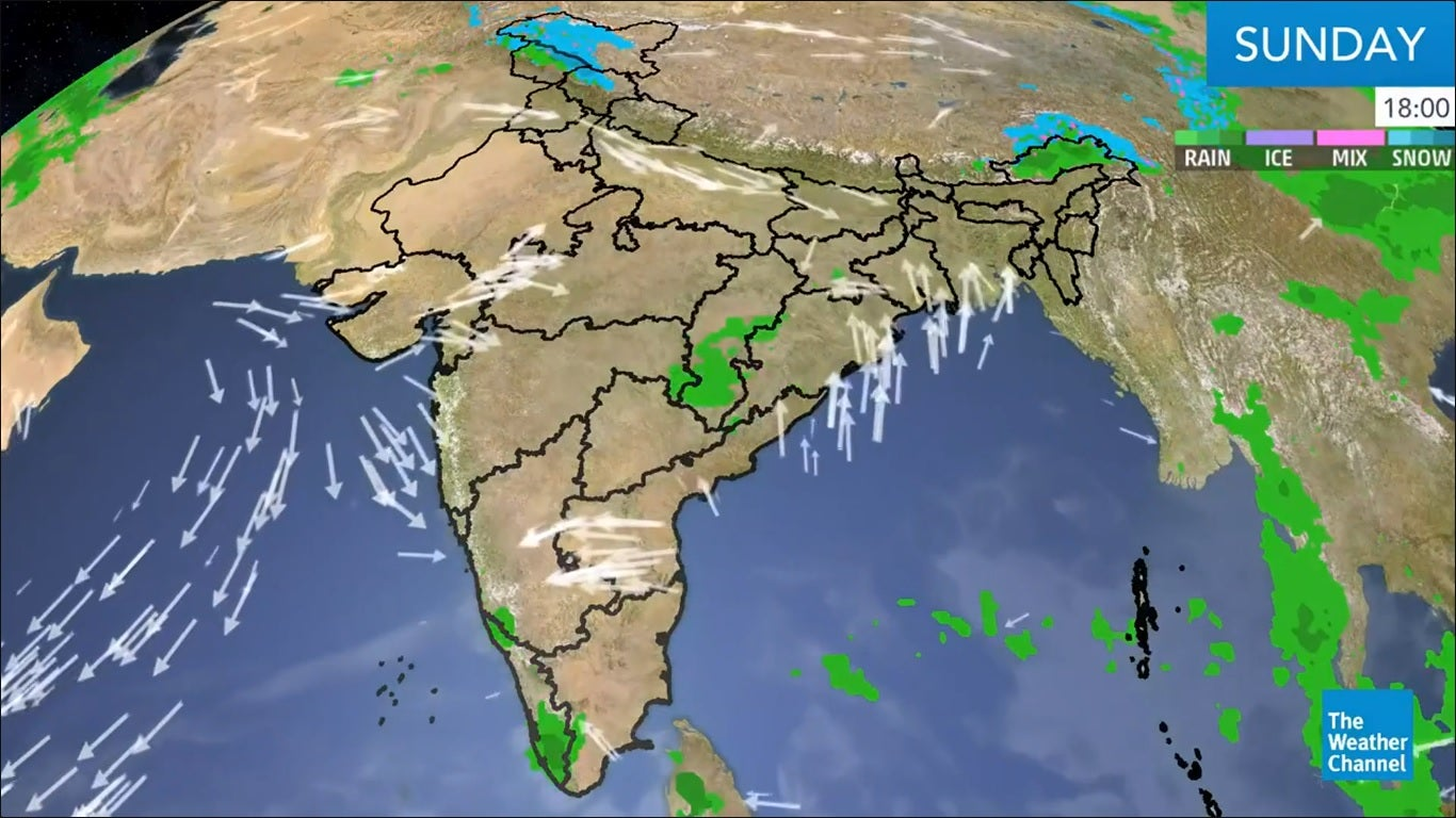 Heavy Rain, Thunderstorms Across Northeast India; Gusty Winds to Prevail Over Delhi, Rest of Northwest Next Week