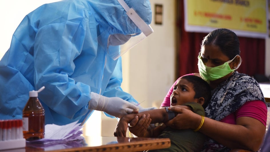 COVID-19 Update: Cases in India Cross 70,000; Coronavirus Vaccine Not  Guaranteed, Says UK PM | The Weather Channel  - in blood sample collect