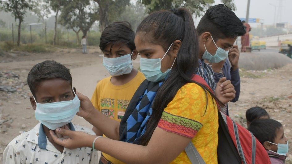 Sensitive Groups Urged to Avoid Outdoors as Delhi AQI Approaches Severe