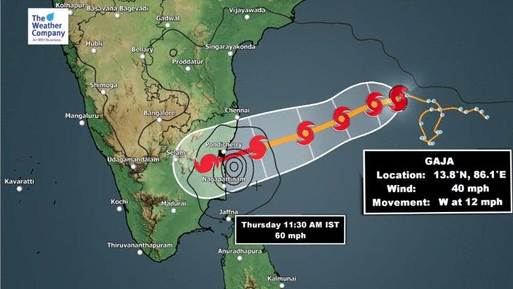 Cyclone Gaja Delayed but May Bring More Rain