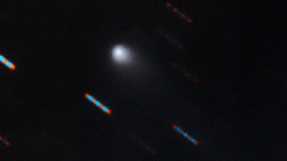 The first-ever image of an interstellar visitor to our solar system has been captured.