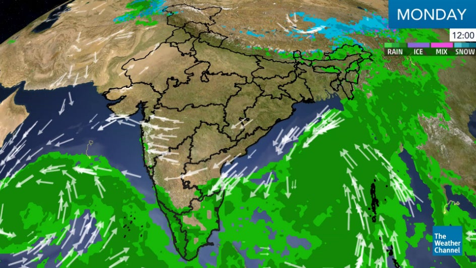 Rains and Snow in Many Regions Across India