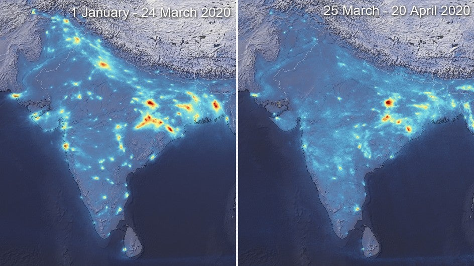 India Witnesses Significant Drop in Pollution Levels Due to Lockdown, Reveals Satellite Data
