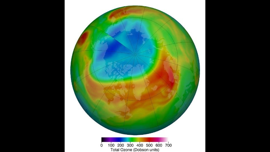 Largest Ozone Layer Hole Formed over the Arctic last Month ...