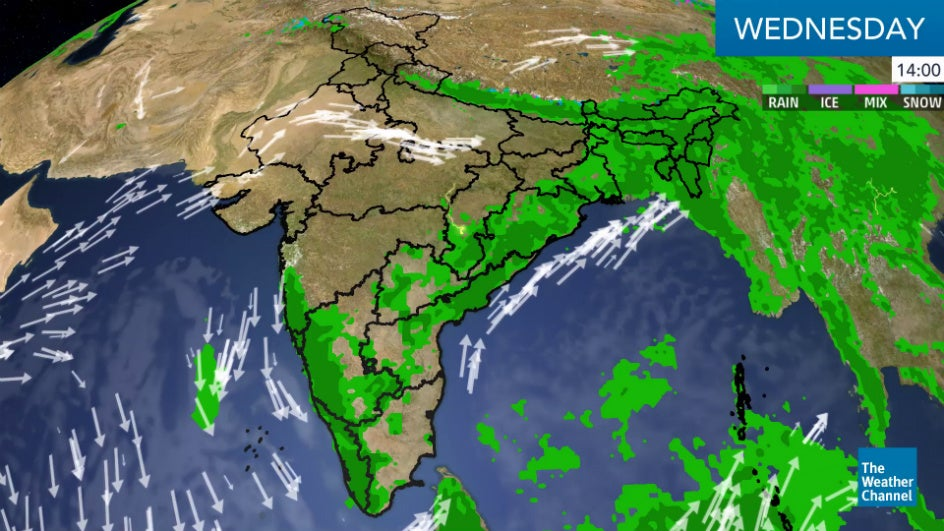 Northeastern States Drenched; Southern India Braces for Heavy Rain