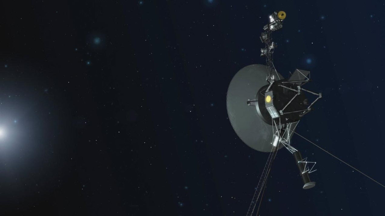 In the Dark and Empty Interstellar Space, Voyager 1 Detects 'Hum' of Plasma Waves