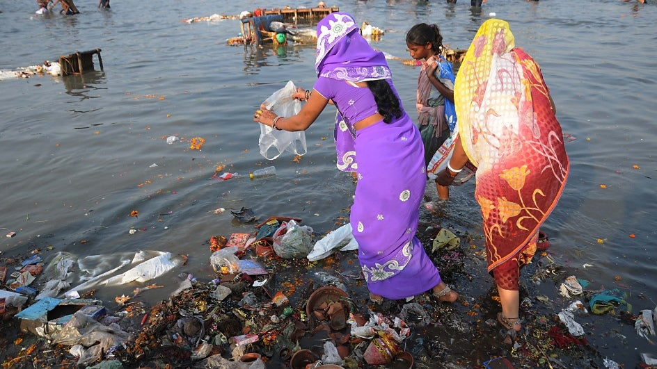 Yamuna River polluted in places extending from Delhi to Etawah