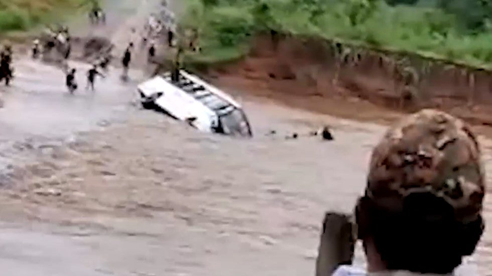 Watch: Soldiers Make a Narrow Escape from Floodwaters in India