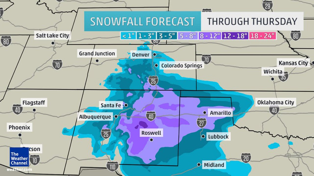 Winter Storm Iola Closes Schools in New Mexico, Texas