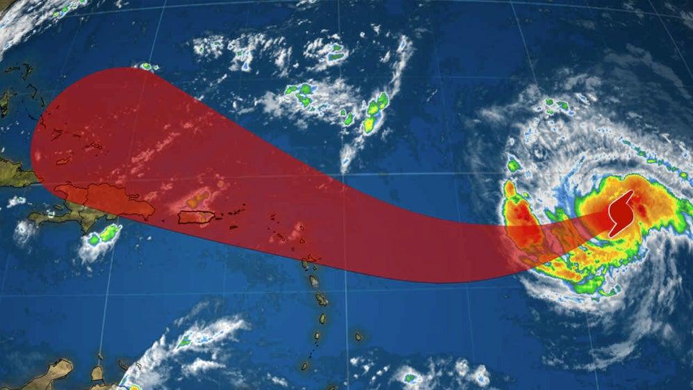 hurricane irma strengthens into a category 3  potential