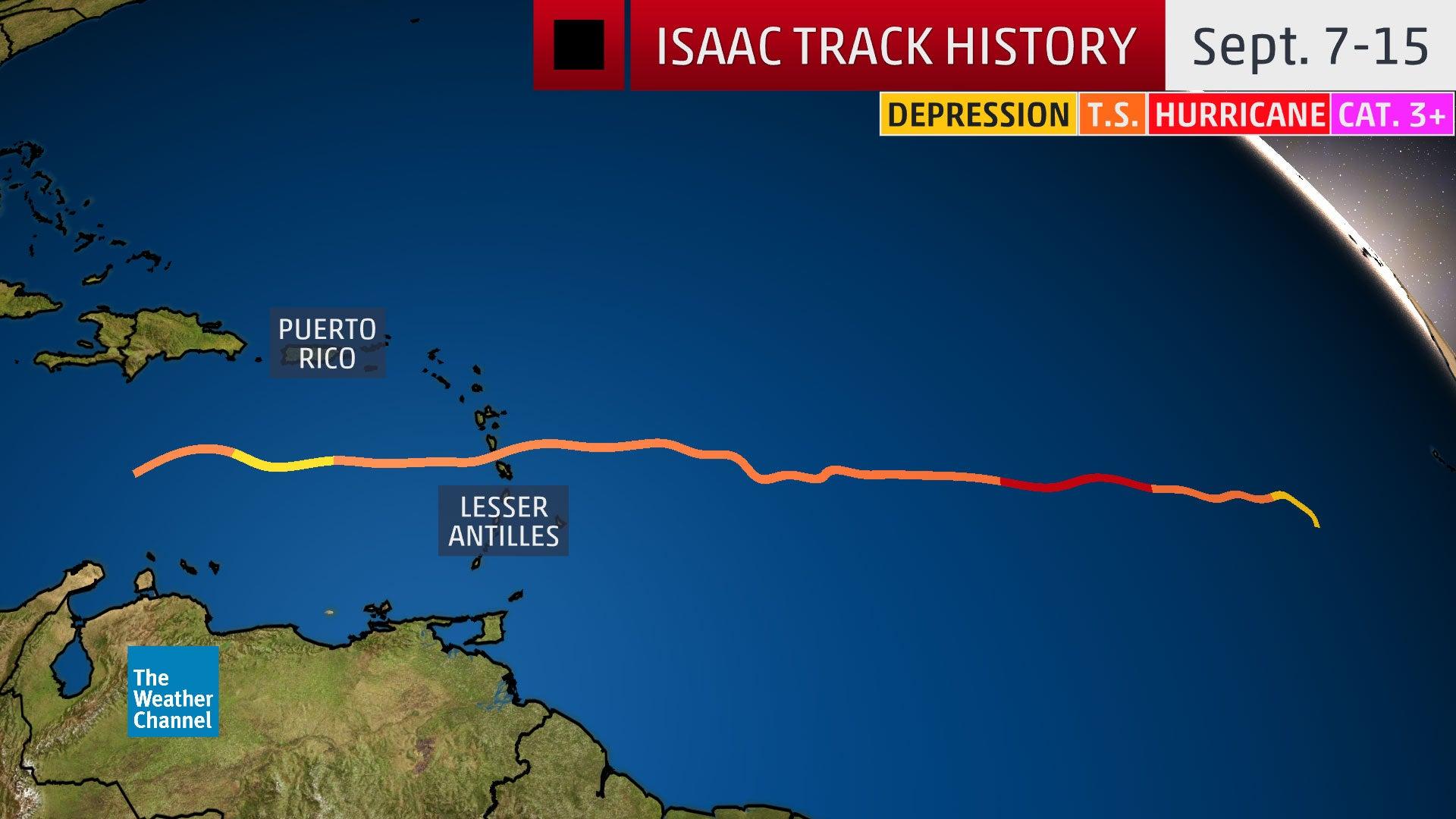 Isaac Fizzles in Caribbean After Becoming an Atlantic Hurricane (RECAP)