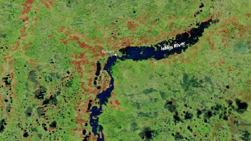 NASA Images Show Dramatic Flooding at Russia's Ishim River | The Weather Channel - The Weather Channel