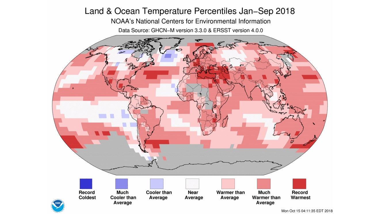 Earth on Pace for Fourth-Warmest Year on Record, NOAA and NASA Say