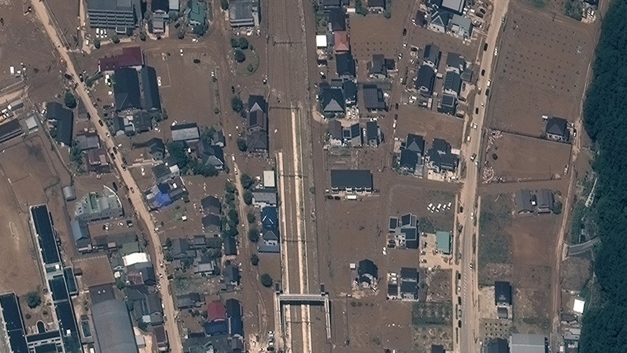 Aerial Photos Show Before and After Japan's Devastating Floods