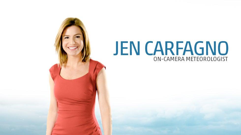 Weather Channel Cast : Jen carfagno weather