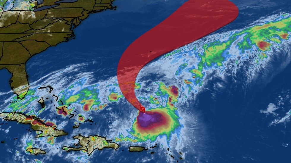 Tropical Storm Jerry Continues Track Towards Bermuda