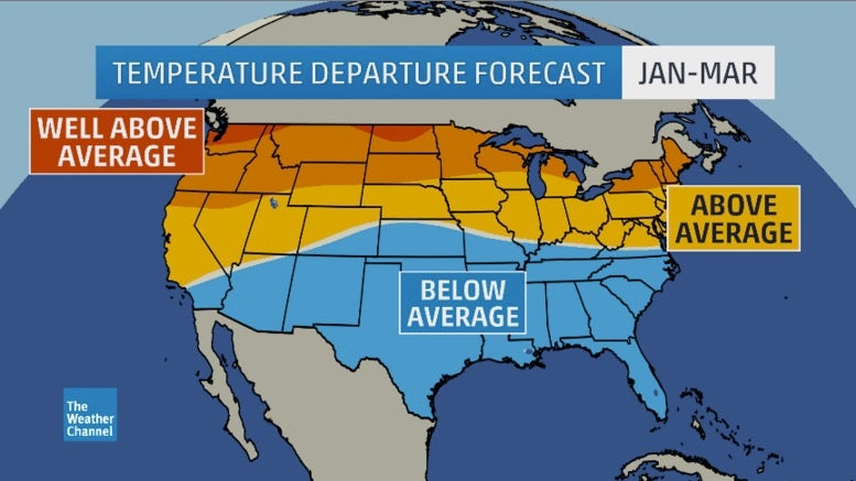 winter outlook update  january cold snap in east possible