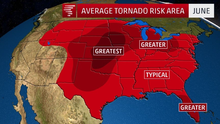 Where The Tornado Threat Is Highest In June The Weather