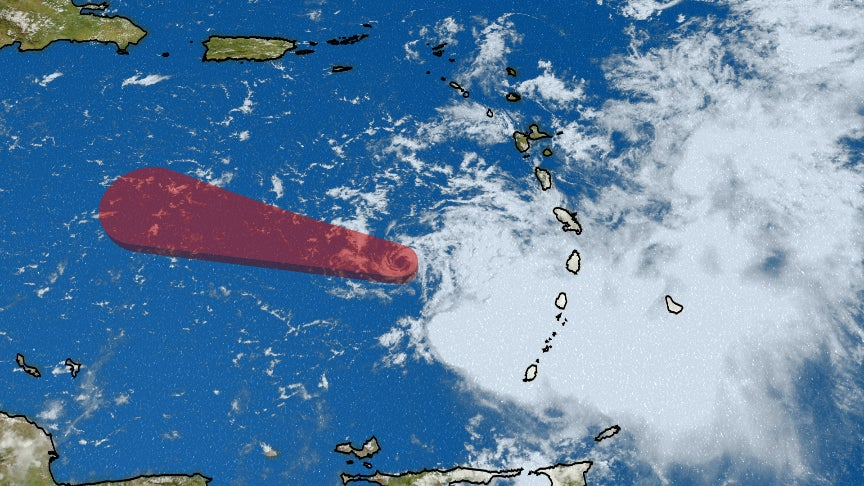 tropical storm kirk soaks windward islands  but wind shear will rip it apart in caribbean sea