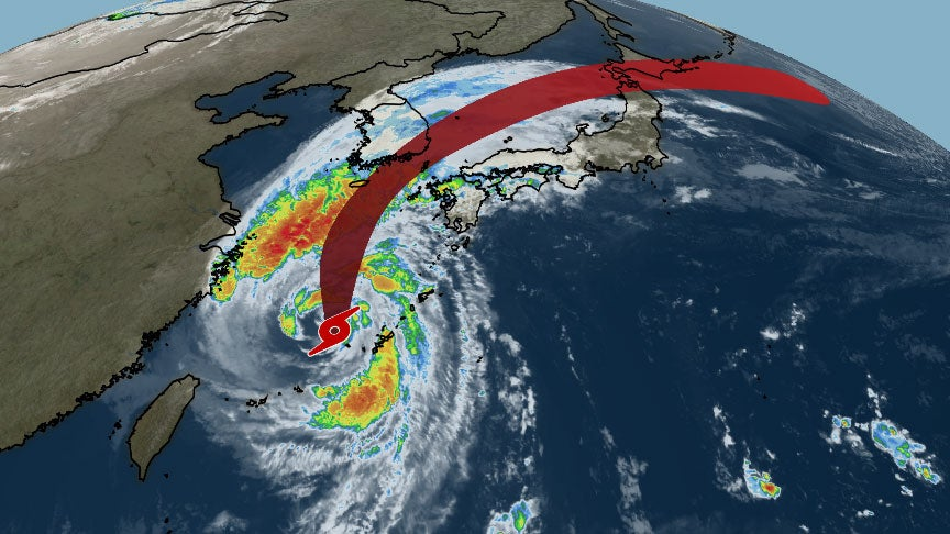 Tropical Storm Kong-rey Swiped Okinawa, Japan, Then South Korea (RECAP)