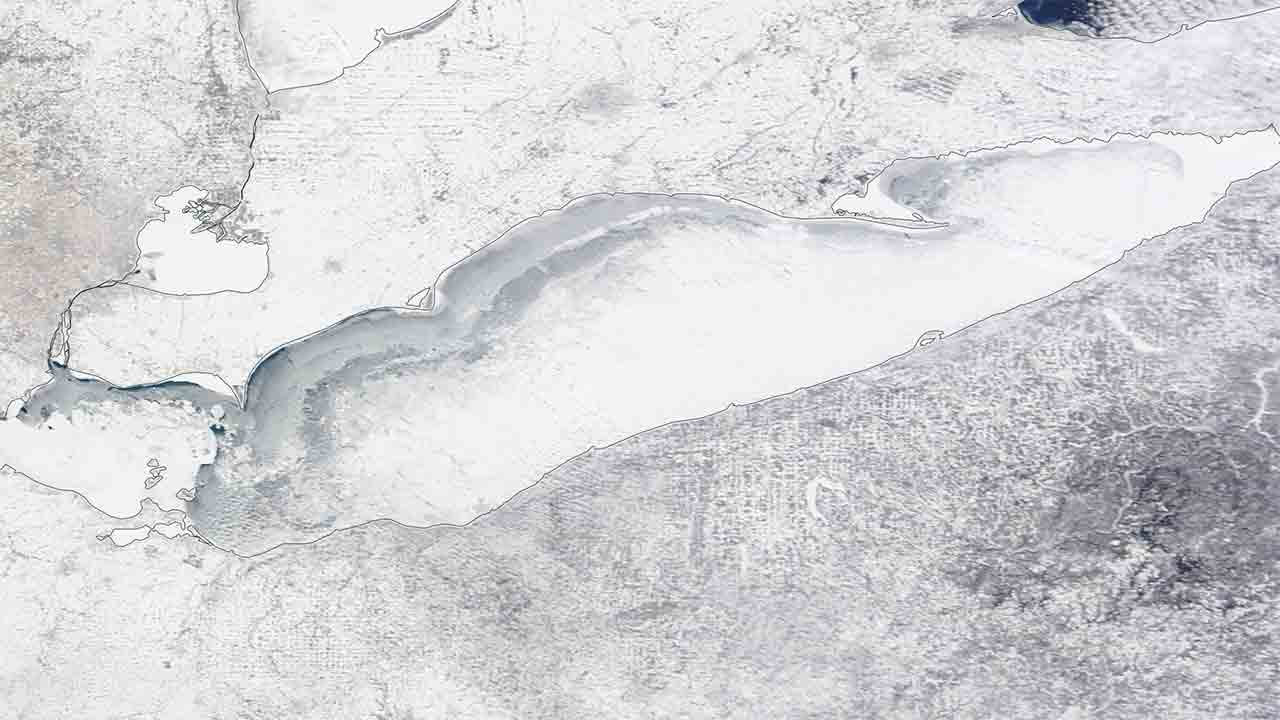 great lakes ice coverage tops 80 percent in consecutive