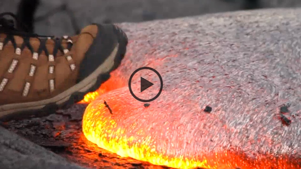 what happens when you step on lava