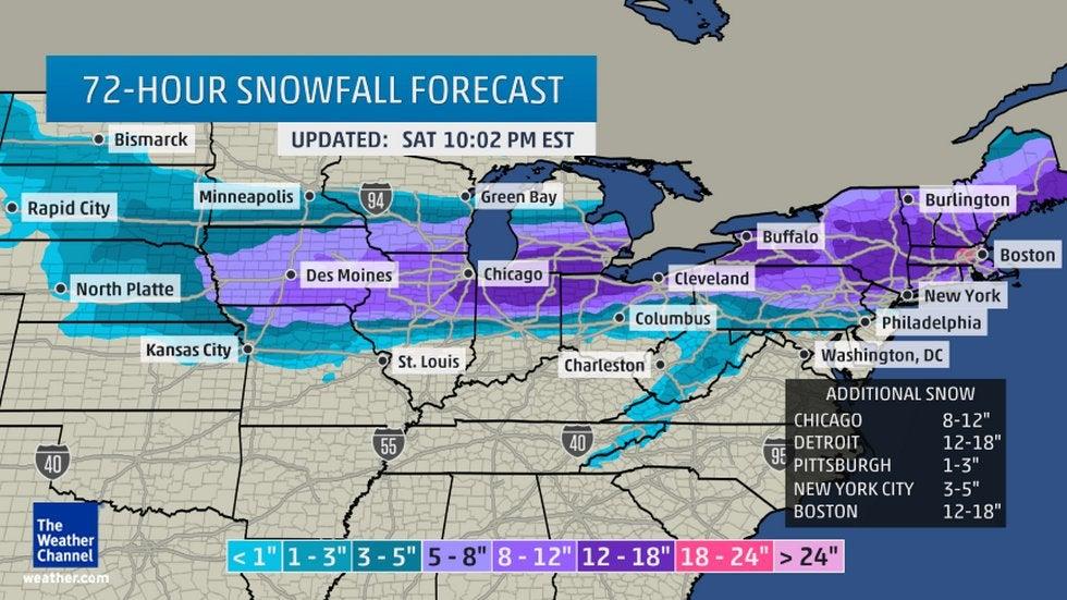 winter storm linus  driving conditions decline across