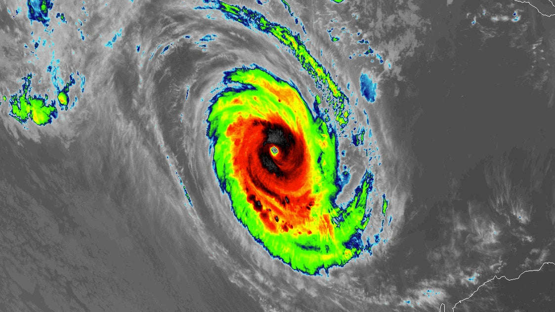 The Imagery Of Category 5 Tropical Cyclone Marcus Earth S