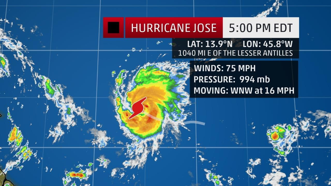 jose and katia join hurricane irma as the fifth and sixth