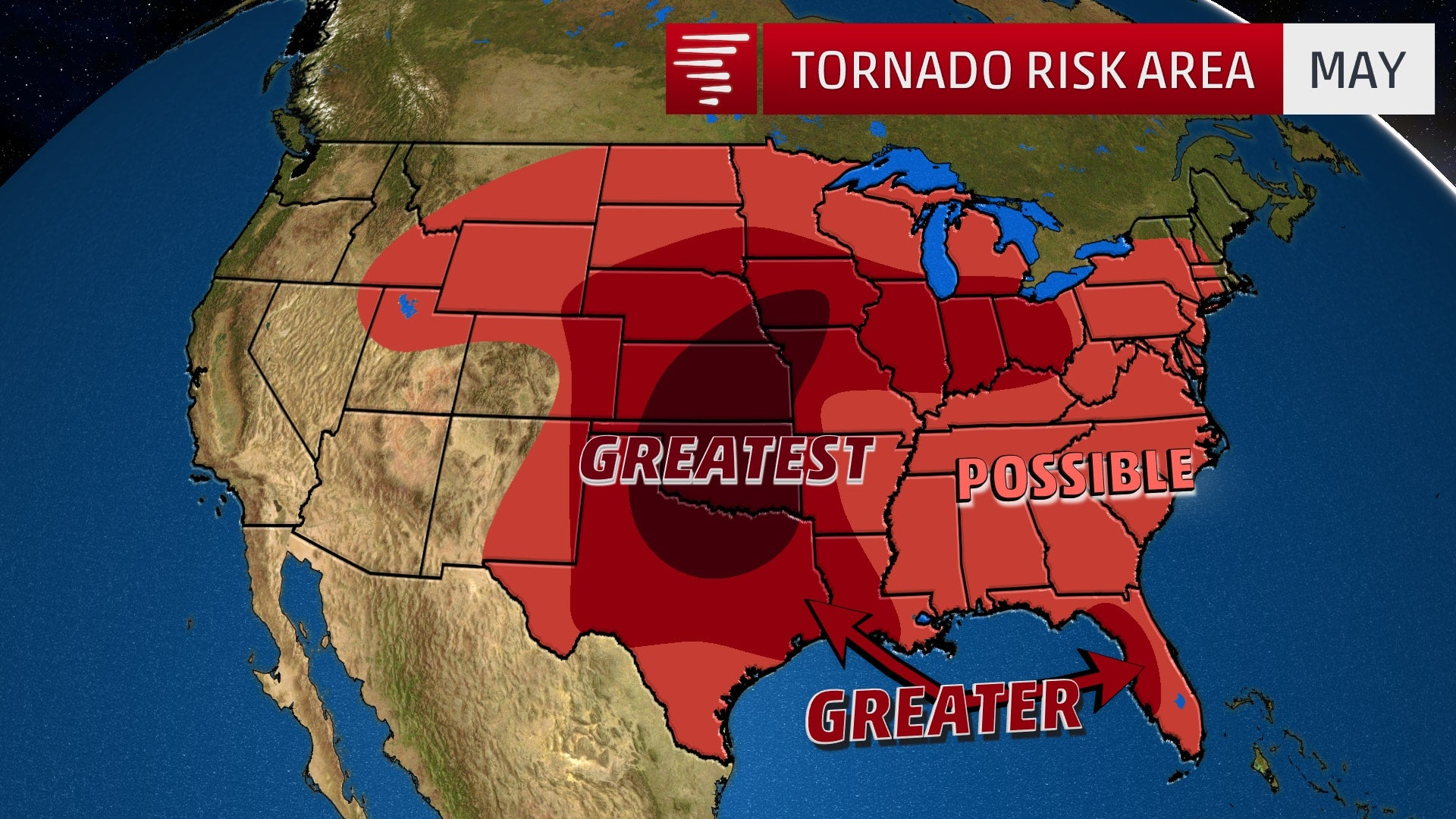 Your Average Tornado Risk By Month The Weather Channel - Tornado maps in us