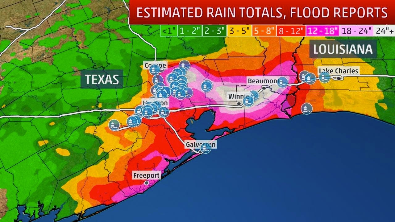 Tropical Storm Imelda Dumps More Than 40 Inches Of Rain In Texas
