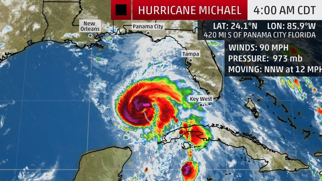 u0026 39 monstrous u0026 39  hurricane michael powering towards florida