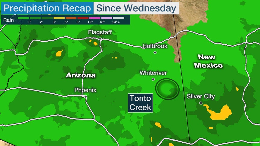 2 Kids Found Dead After Vehicle Swept Away by Floodwaters in Central Arizona