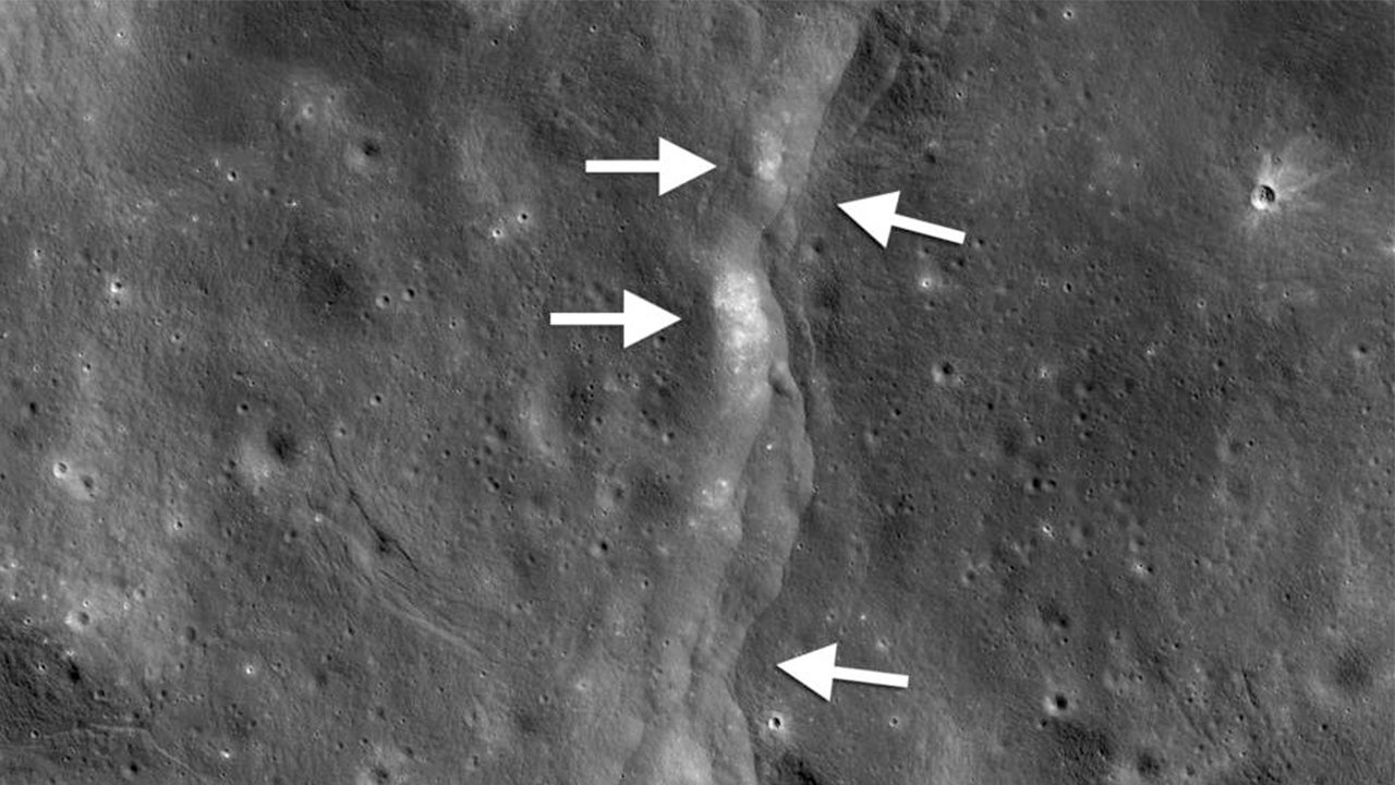 shrinking moon may be triggering moonquakes  study says