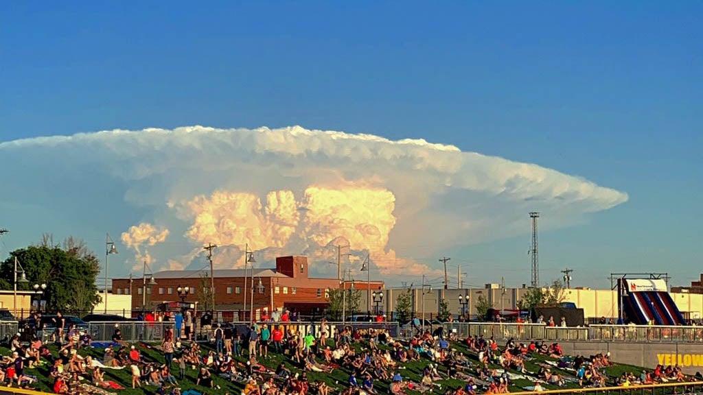 Cumulonimbus 'Mushroom' Cloud Hovers in the Sky Near Amarillo, Texas