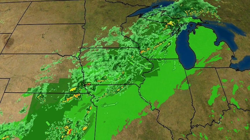 Flash Flooding Concerns Persist in the Water-Logged Upper Midwest as Storm System Slowly Tracks East