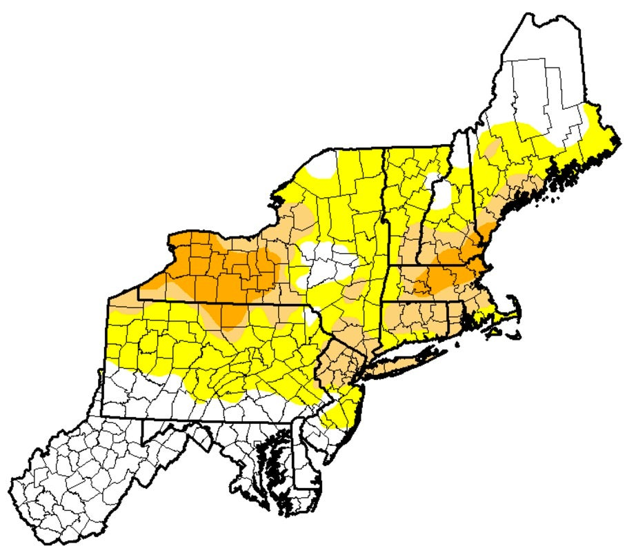 Three New Drought Areas You May Not Have Heard About The Weather - Drought severity map us
