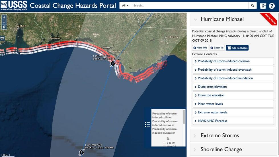 hurricane michael u0026 39 s storm surge will likely erode 75