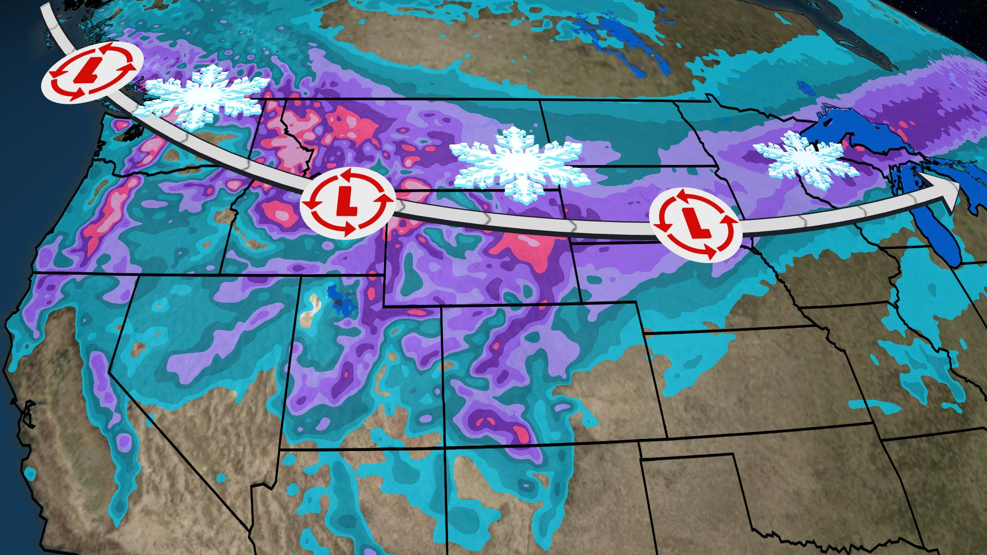 winter storm oliver will spread snow  ice and wind from