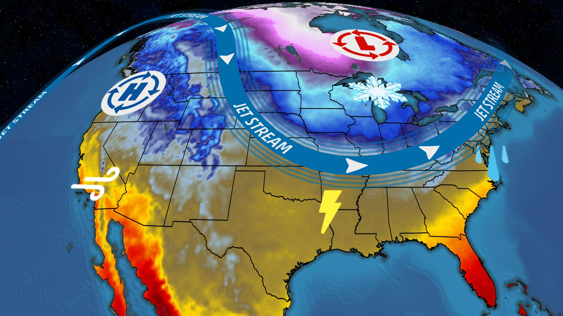 USA National Forecast The Weather Channel - Us weather map next week