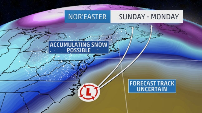 Nor'easter to Bring Snow to New England, Mid-Atlantic States as Spring Kicks Off (FORECAST)