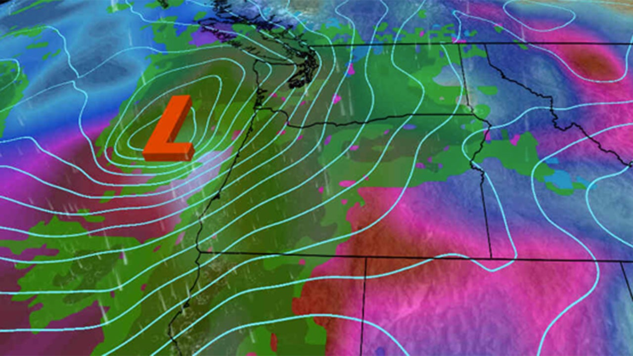 Pacific Northwest Storm Including Remnant Of Typhoon Songda Hits - Northwest us weather map
