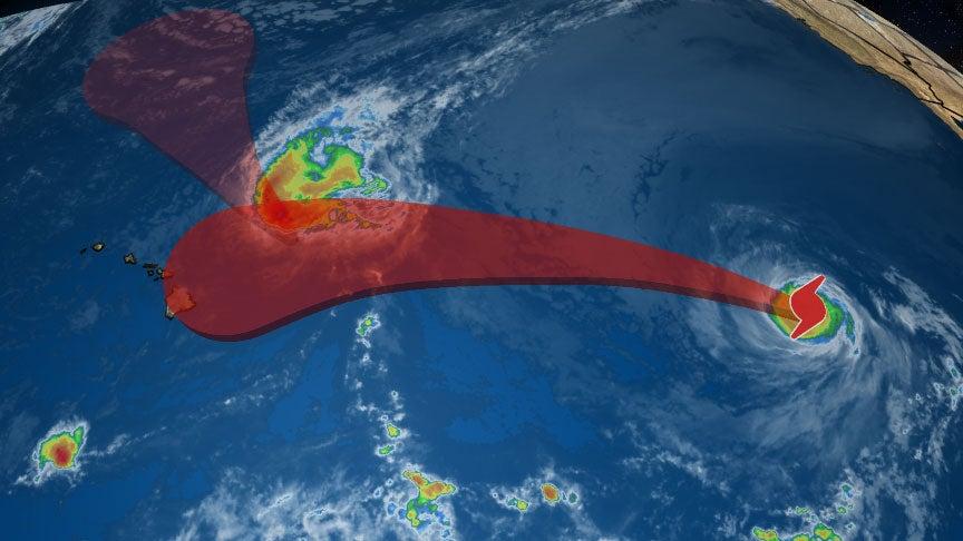 hurricane olivia tracking towards hawaii