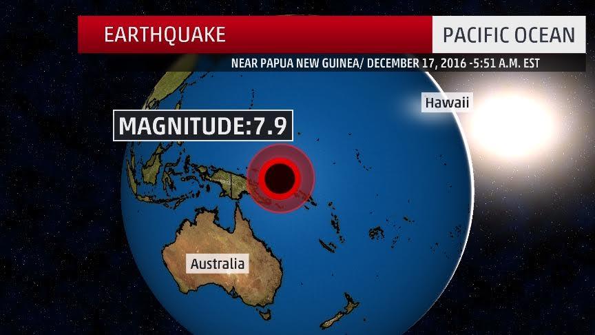 7.9 Magnitude Earthquake Hits Off Papua New Guinea Coast